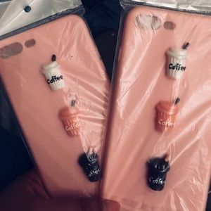 Accessories - New 🌟 iPhone 7 Plus pink case coffee lovers